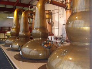 Whiskey Stills in France at Glendronach distillery